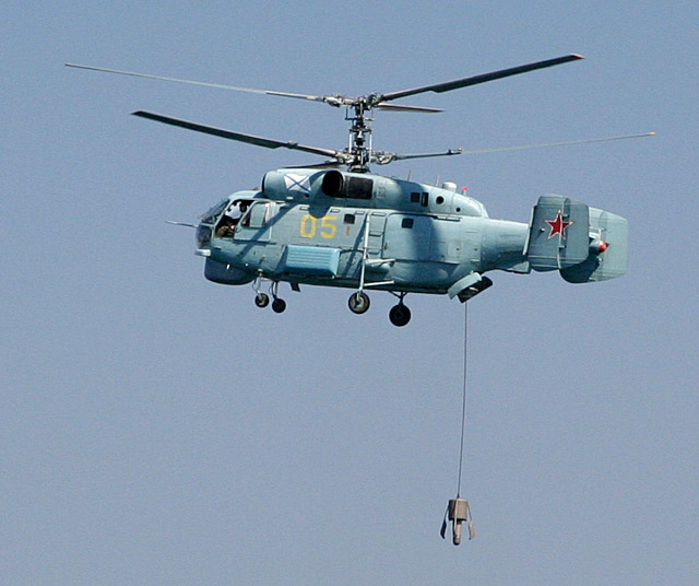 Kamov Ka-27PL (NATO reporting name: Helix) shipborne anti-submarine warfare helicopters of the Russian Navy Baltic Fleet's naval aviation have eliminated a simulated enemy's submarine in an exercise, fleet spokesman Vladimir Matveyev said on Thursday.
