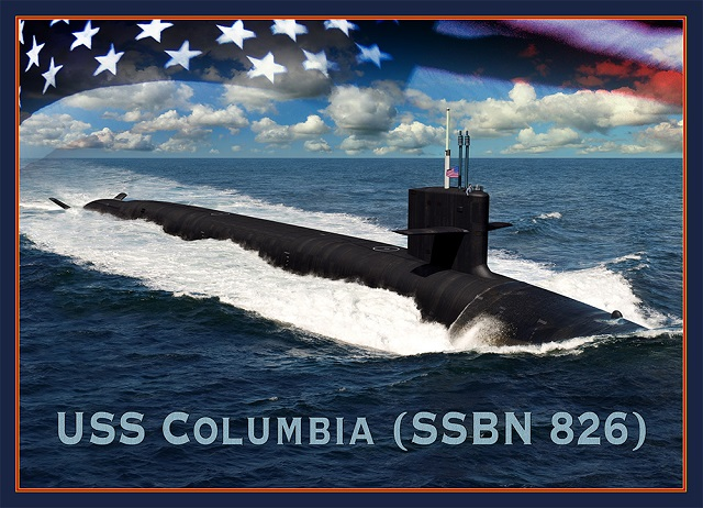 GDEB Receives US Navy Contract for Continued Columbia-Class SSBN Submarine Development