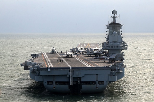 PLAN Liaoning aircraft carrier first islands chain west pacific 1
