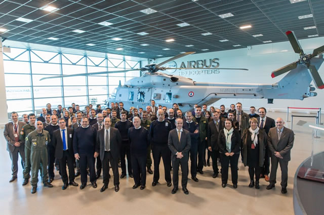 Airbus Helicopters delivered the 16th NH90 NFH (Nato Frigate Helicopter) to the French Navy (Marine Nationale) on 19 February 2016. The was delivery ceremony was held at Marignane, the manufacturer's headquarters in Southern France.
