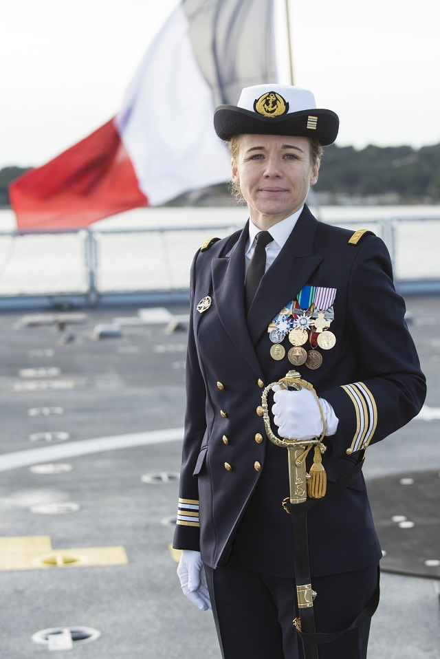 The French Navy (Marine Nationale) appointed Capitaine de Frégate (Frigate Captain or Commander) Claire Pothier as the commanding officier aboard Lafayette class Frigate Guépratte (F714). CDR Pothier becomes the first woman to command a combatant ship in the French Navy.