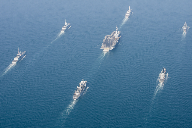 #5 - In Pictures: French Navy Carrier Strike Group With Two New Generation FREMM Frigates