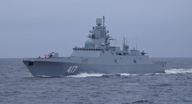 The latest Russian Navy frigate, the Admiral Gorshkov (lead ship of Project 22350), has practiced launching cruise missiles against coastal and sea targets as part of its trials, Northern Fleet spokesman Captain 1st Rank Vadim Serga said on Thursday.