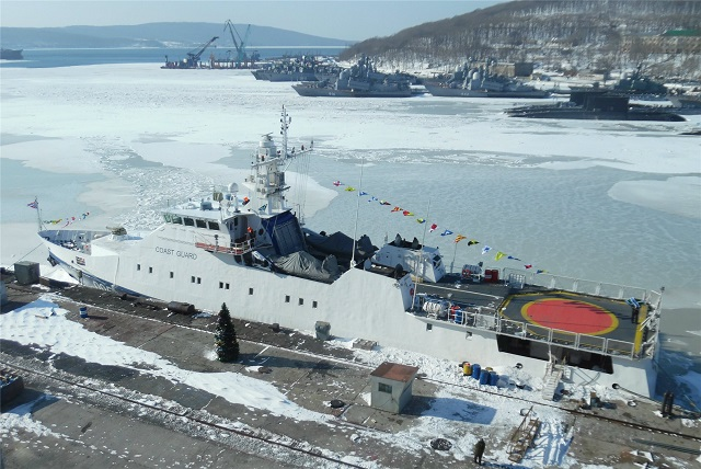 Two new vessels have arrived for the Coast Guard of the Federal Security Service in the Russian Far East, Coast Guard spokesperson Albina Proskurenko told TASS on Monday. The vessels were built by the Vostochnaya Shipyard in accordance with Russian projects, the spokesperson added. One of them is a Rubin-class patrol boat (Project 22460).