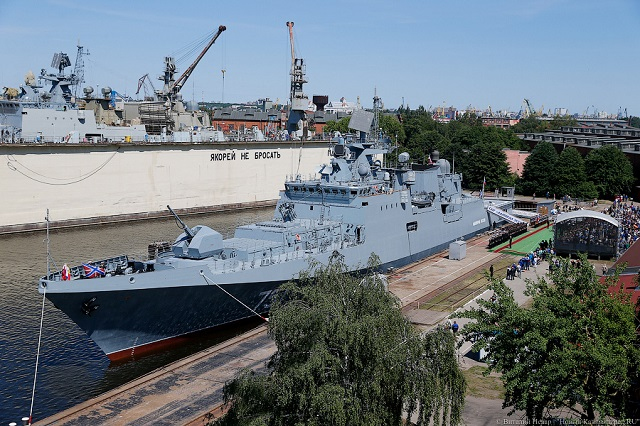 The first production-standard Project 11356 frigate - the Admiral Essen - has been commissioned for service with the Russian Navy. The Russian Navy flag was hoisted onboard the frigate in a ceremony on the premises of the Yantar Shipyard in Kaliningrad. The ship will be assigned to the Black Sea Fleet.