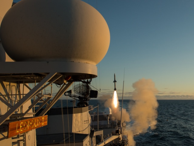 From 6 to 16 June, Belgian Navy frigate Leopold I took part in two multinational exercises near Andenes in Northern Norway, beyond the Arctic Circle. Both exercises were intended to test both anti-surface and anti-ship missiles defensive techniques. During one of the exercises, the frigate launched a RIM-7 Seasparrow surface to air missile.