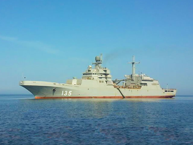 Russia's Project 11711 large amphibious assault ship Ivan Gren built at the Yantar Shipyard in Kaliningrad in west Russia has gone to the Baltic Sea for the first time during its running trials, shipyard spokesman Sergei Mikhailov told TASS.