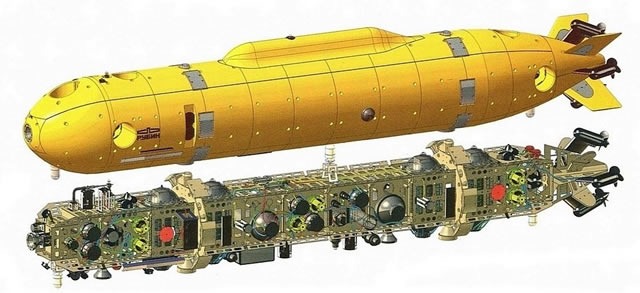 Russia`s Rubin Central Design Bureau for Marine Engineering (a subsidiary of the United Shipbuilding Corporation) produced the demonstrator of Klavesin-2R-PM unmanned underwater vehicle (UUV) in 2015, according to the company`s 2015 annual report.