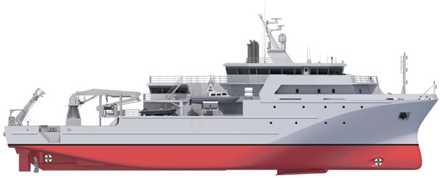 French Shipyard PIRIOU based in Concarneau (Brittany) has just won a contract with the Royal Moroccan Navy for a 72 meters Multi-Missions Hydro-Oceanographic Vessel designated BHO2M (for Bâtiment Hydro-Océanographique Multi-Missions). This new unit will be built in France with delivery expected in mid-2018.