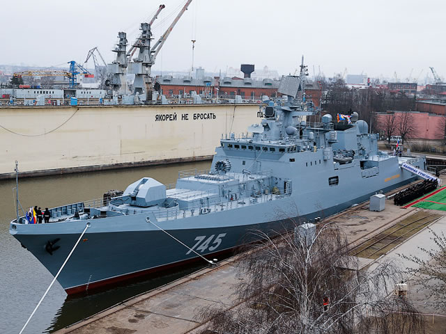Lead frigate Admiral Grigorovich of project 11356 was handed over to the Navy on March 10, 2016 although initially it had to be delivered yet in 2014.