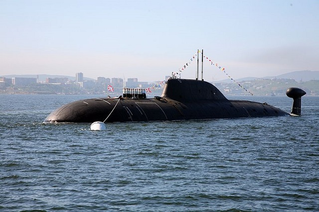 Russia's Pacific Fleet has received the Project 971 (Akula-class) nuclear-powered submarine Kuzbass (K-419) that underwent repairs at the Zvezda Shipyard in the Primorye Territory in the Russian Far East, the regional administration said on Monday. The nuclear-powered submarine Kuzbass is armed with missiles and torpedoes.