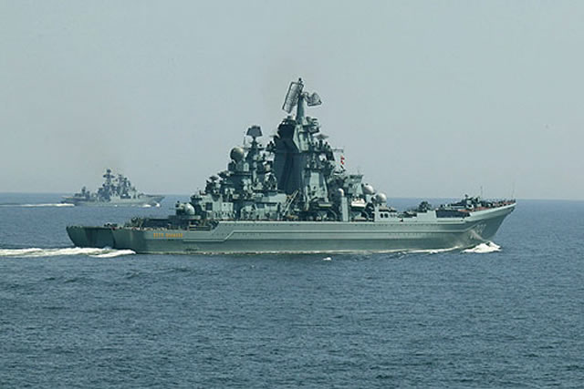 Russia's Northern Fleet has started an exercise in the Barents Sea, the fleet's press office said on Friday. The maneuvers involve ten warships and support vessels, including the Project 11442 heavy nuclear-powered missile cruiser Pyotr Veliky, and planes and helicopters of the Northern Fleet's Air and Air Defense Army, the press office added.