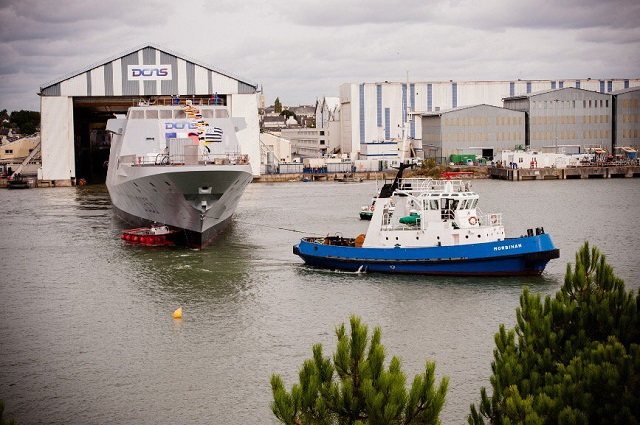 On 16 September 2016, DCNS floated the FREMM multi-mission frigate Bretagne in Lorient, France. The achievement of this industrial milestone marks an important step in the construction of the vessel. It once again underlines the dynamism of DCNS and its capacity to deliver six FREMM frigates to the French Navy before mid-2019, in accordance with the Military Programming Law 2014-2019.