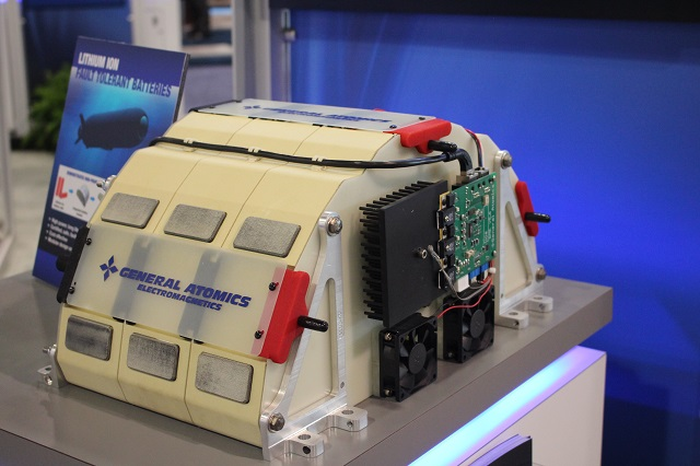 General Atomics Li-Ion Fault Tolerant Batteries to Support Unmanned Underwater Surveillance Vehicle