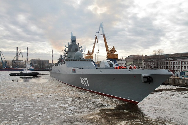 Russia's First Project 22350 Frigate Admiral Gorshkov Sea Trials Set to End in July