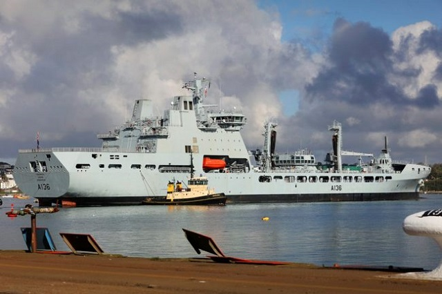 TIDESPRING, the first Royal Fleet Auxiliary (RFA) Tide-class tankers, has arrived home in the UK