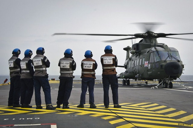 Royal Navy Merlin Helicopters Deploy Aboard French Navy LHD Mistral for the First TIme