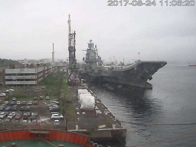 Admiral Kuznetsov aircraft carrier repairs