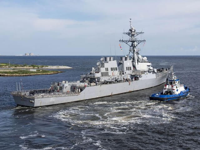 Arleigh Burke class guided missile destroyer USS Ramage DDG 61