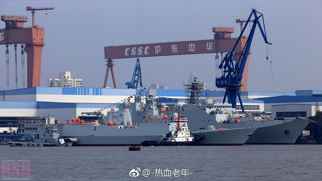 Chinese Shipyard Launched the 29th Type 054A Frigate for the PLAN 2