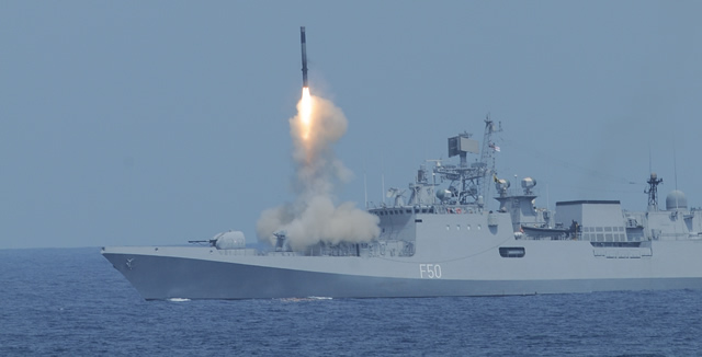 Brahmos Launch from INS Tarkash Indian Navy IMDS 2013 Daily News