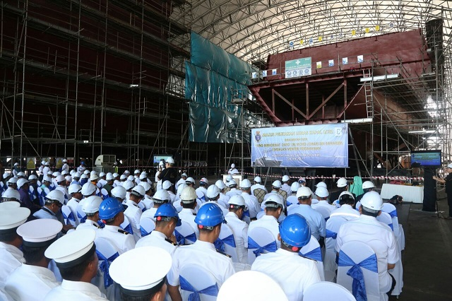 Keel Laying 2nd Gowind LCS SGPV Malaysia TLDM 1