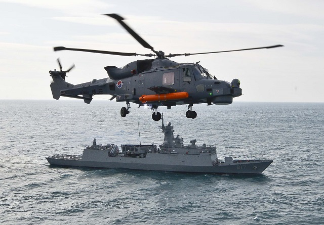 ROK Navy AW159 Wildcat helicopter ASW exercise frigate Gwangju 1