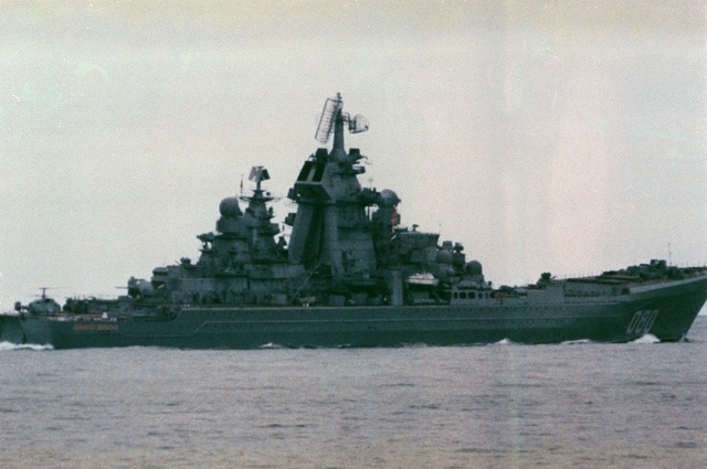 Kirov class nuclear powered guided missile cruiser Admiral Nakhimov CGN 080
