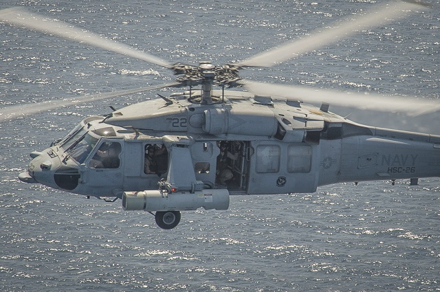 MH 60S Sea Hawk Airborne Laser Mine Detection System ALMDS