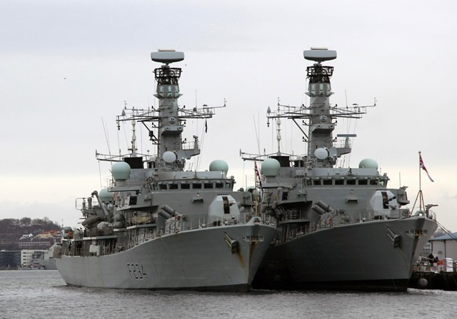 Type 23 frigates HMS Iron Duke HMS Sutherland Artisan radar Royal Navy
