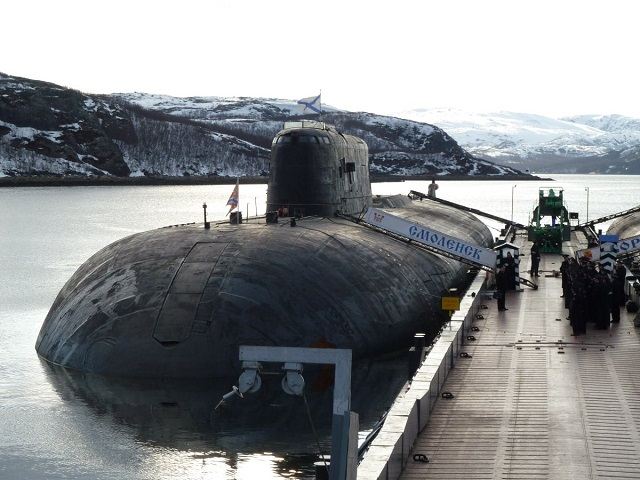Project 949A Antey nuclear powered attack submarine Smolensk