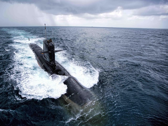 Indian Navy Scorpene-class Submarines in Sea Trials and SUT Torpedo Firing Test