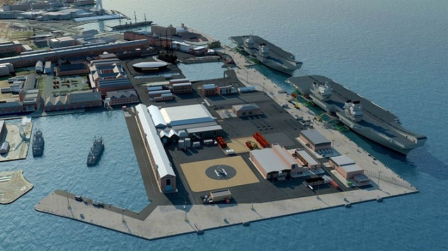 Jetty for New Royal Navy Aircraft Carriers Ready at Portsmouth Naval Base 2
