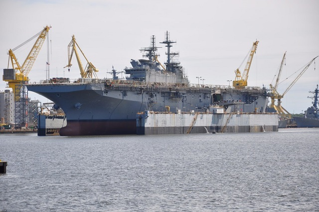 Second America-class Amphibious Assault Ship Tripoli Launched by HII