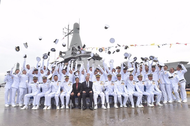 Republic of Singapore Navy Commissions Littoral Mission Vessel RSS Sovereignty RSS Unity 1