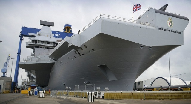 HMS Queen Elizabeth aircraft carrier UK Ministry Defence