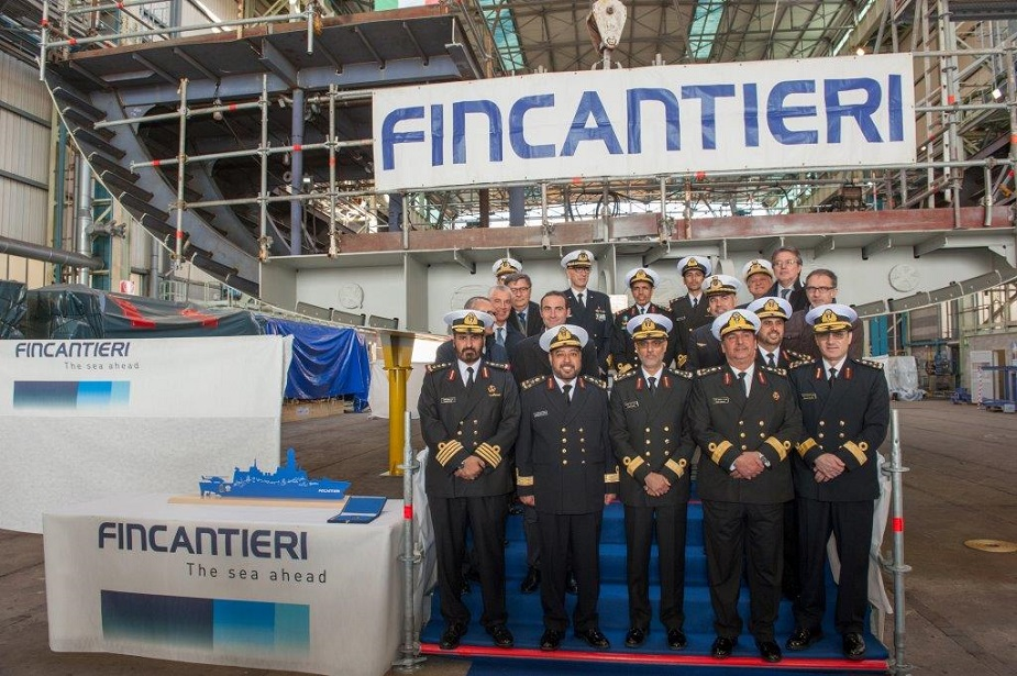 Fincantieri Lays Keel of First Doha class Air Defence Corvette for Qatar