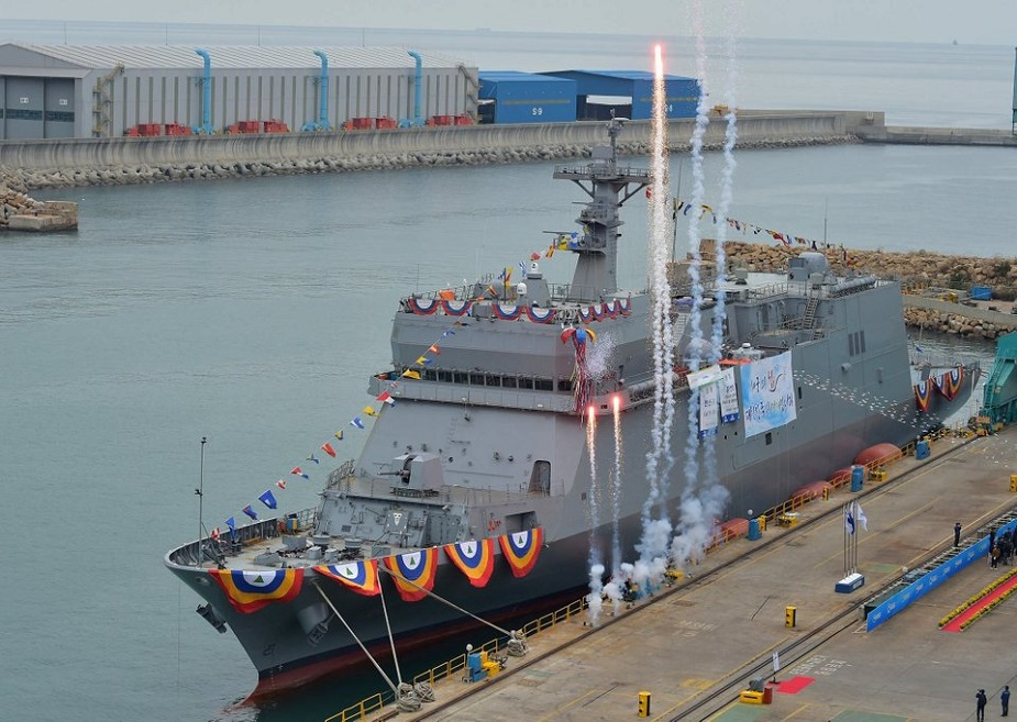 HHI Launched First Auxiliary Training Ship Hansando for ROK Navy