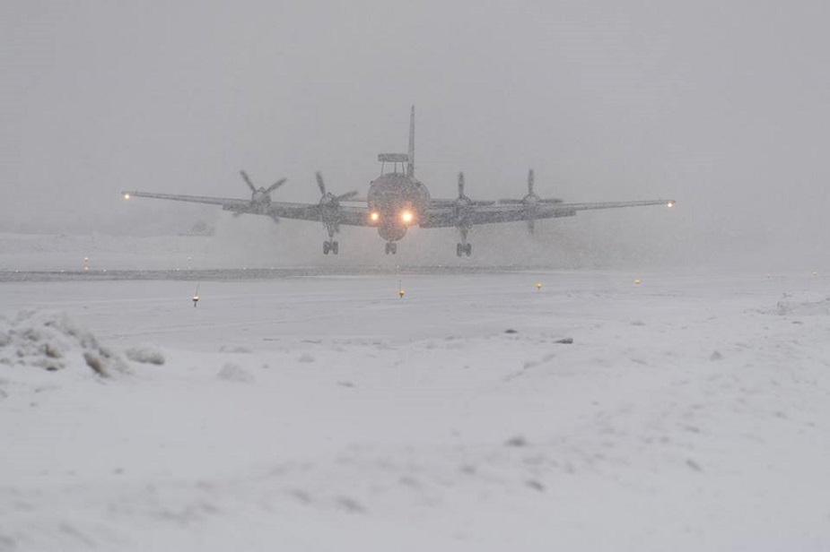 Russian Pacific Fleet Il 38N MPA practice ASW in Arctic