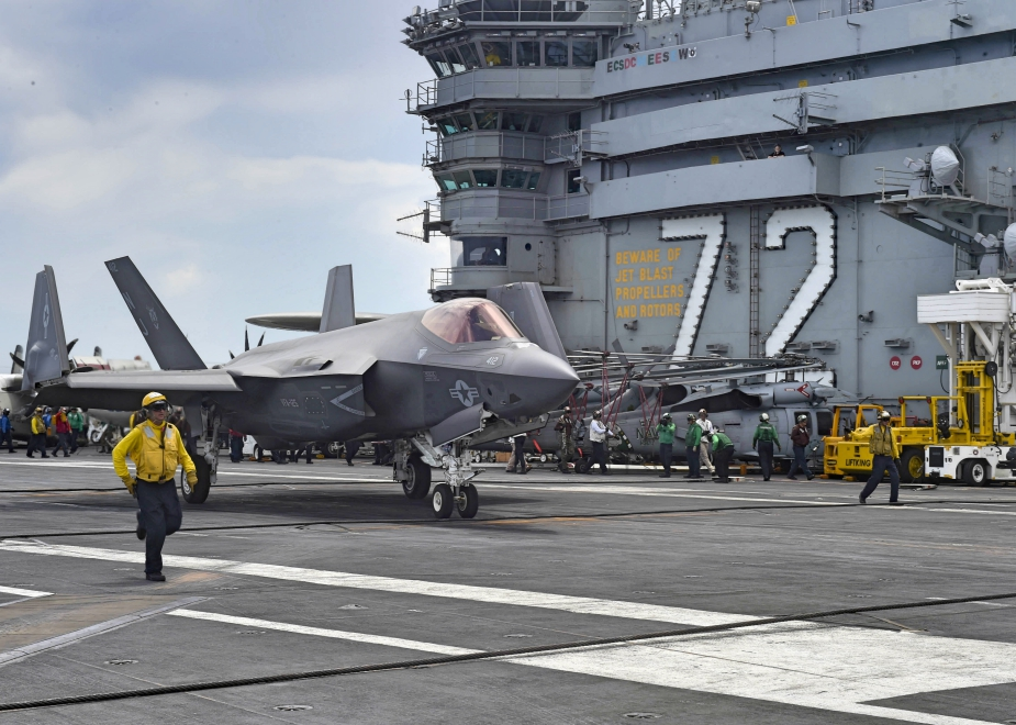 F 35C Lightning II Conducts Operational Test 1 Aboard USS Abraham Lincoln 3