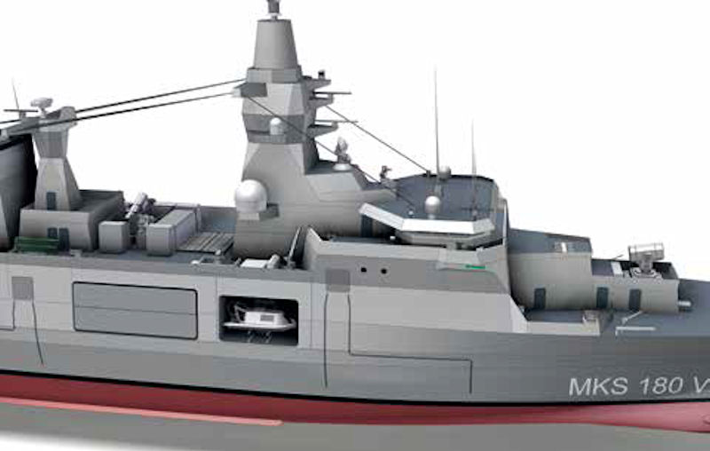 German Naval Yards Kiel TKMS Team Up for MKS 180 program