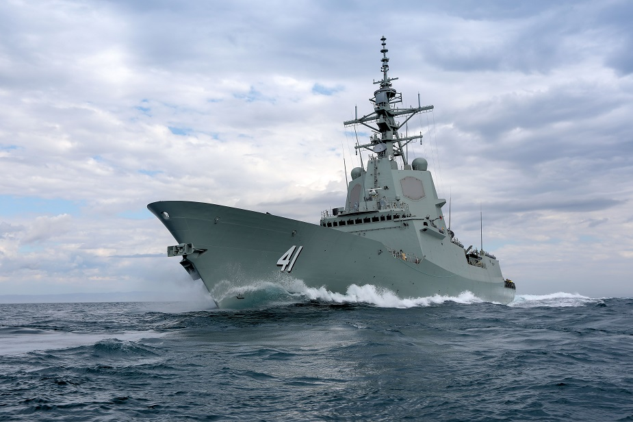 Second Hobart class Air Warfare Destroyer Delivered to Royal Australian Navy