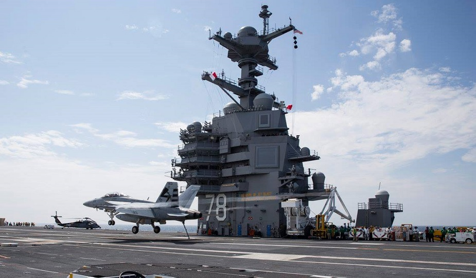 USS Gerald R. Ford CVN 78 completed 401 fixed wing launches recoveries