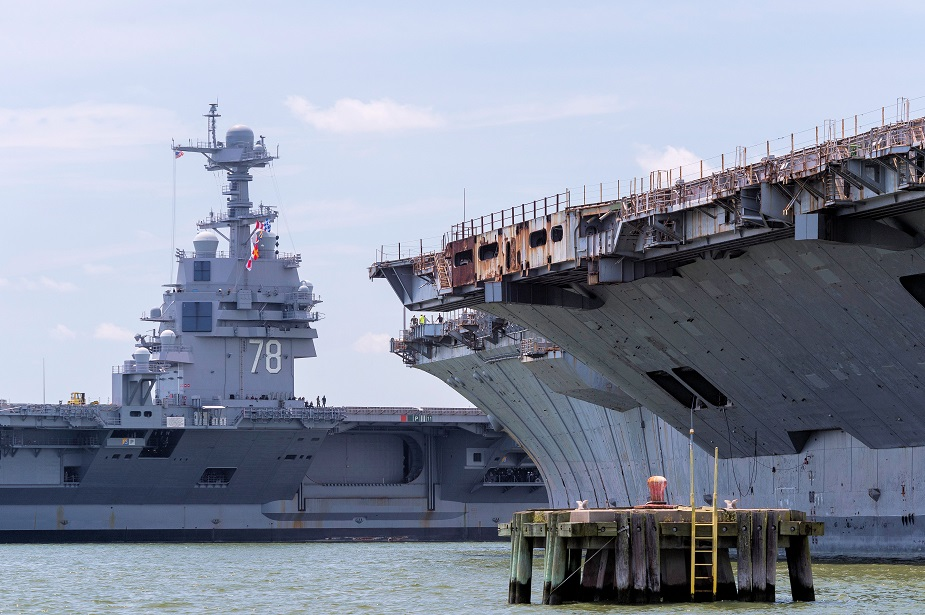 HII Begins Post Delivery Work on Aircraft Carrier USS Gerald R. Ford CVN 78