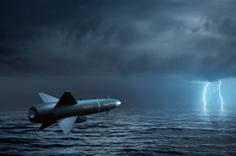 Saab Launches the RBS15 Gungnir RBS15 Mk4 Anti ship Missile