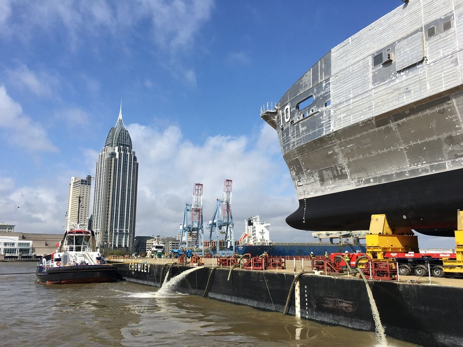Austal Launched U.S. Navys 10th Expeditionary Fast Transport Burlington EPF 10