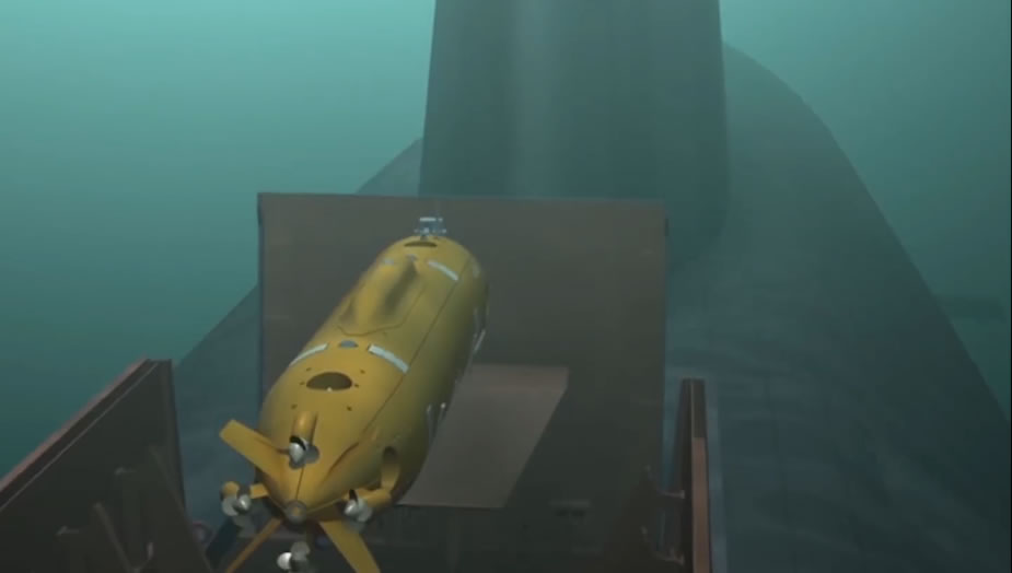 Russian MoD video showing Rubins Klavesin 2R PM UUV