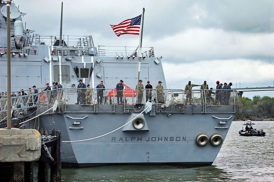 U.S. Navy Commissioned 65th Burke class Destroyer USS Ralph Johnson DDG 114 1