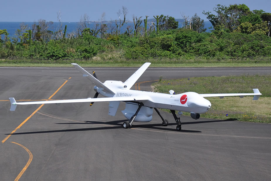 GA ASI MQ 9 Guardian UAV conducts maritime surveillance flights in Japan