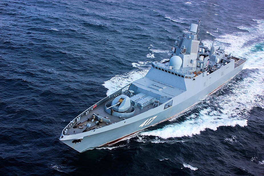 Admiral Gorshkov Frigate Qualifies Poliment Redut SAM Against Air Surface Targets